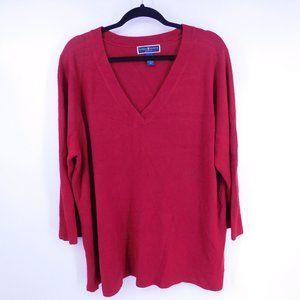 Karen Scott Women's Sweater Plus Size 3X Red